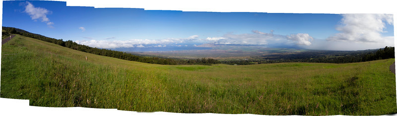 View from Waipoli Road, Kula, across Central Maui. May 2011.
